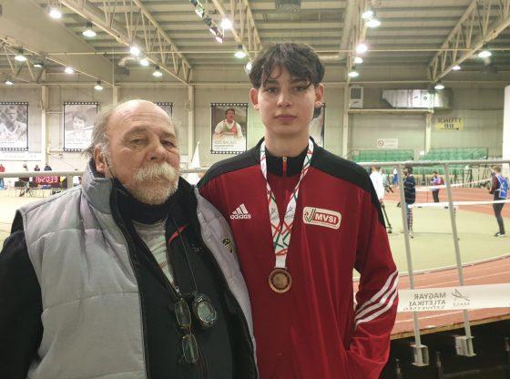 Szűcs József (balról) és Bánk Leon a budapesti országos bajnokságon.